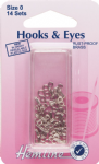 H400.0 Hooks and Eyes: Nickel - Size 0